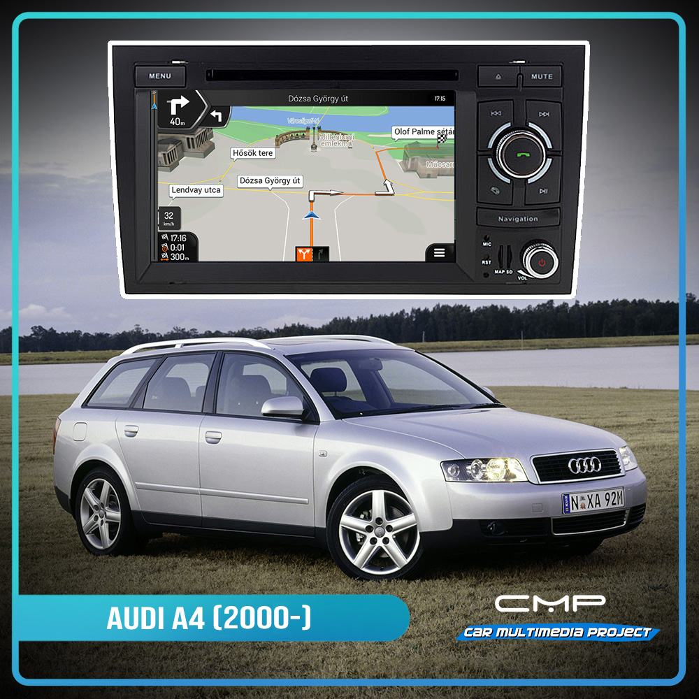 AUDI A4 (2002-2008) 6.2″ multimédia
