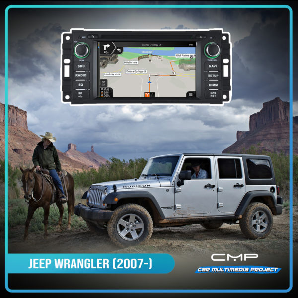 JEEP WRANGLER 6,2″ multimédia