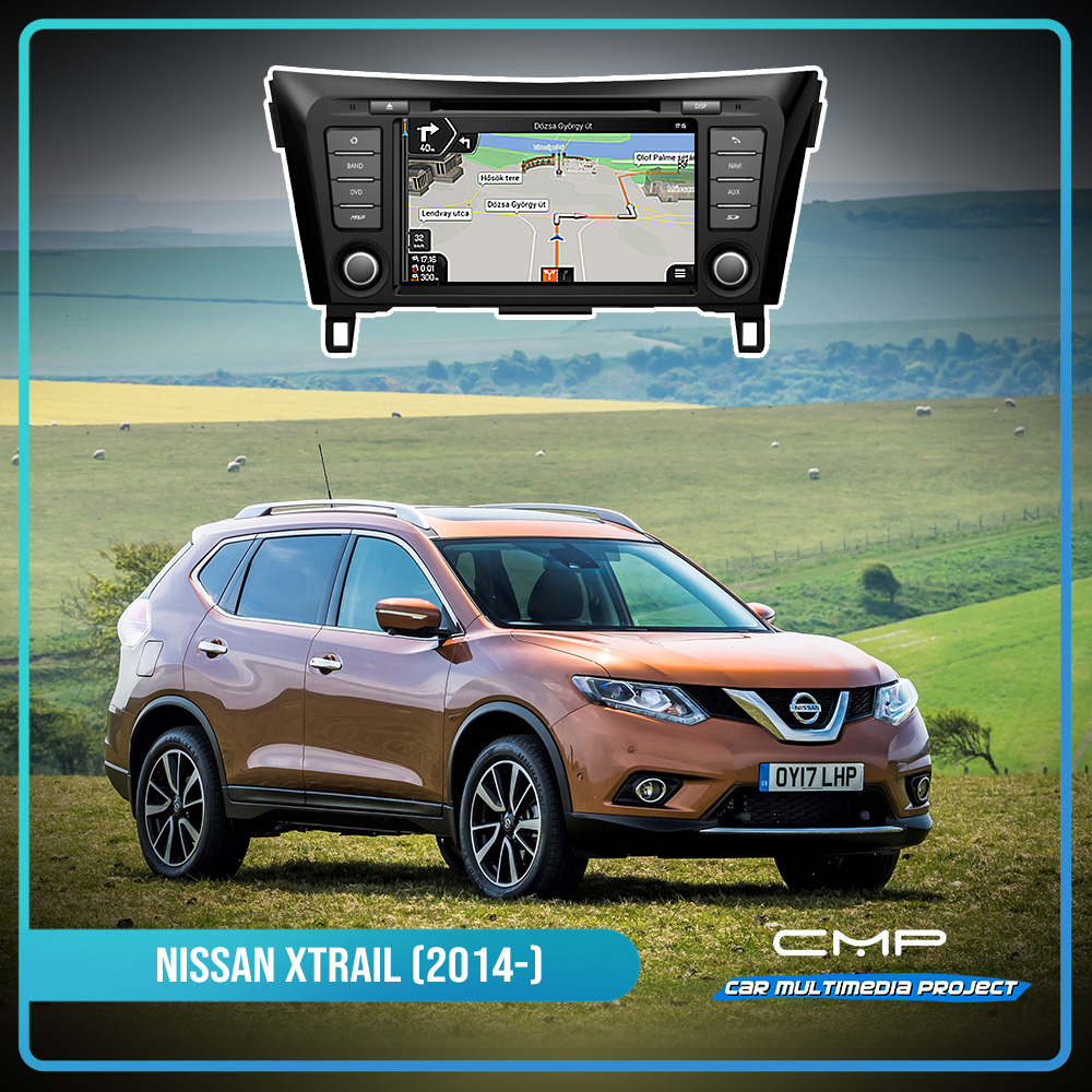 NISSAN X-TRAIL (2014) 8″ multimédia