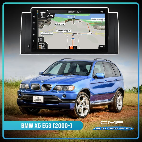 BMW X5 E53 (2000-2007) 9″ multimédia