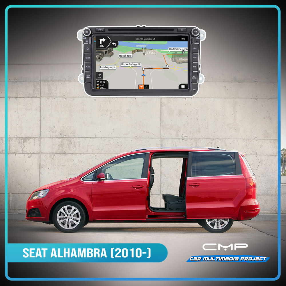SEAT ALHAMBRA (2010) 8″ multimédia