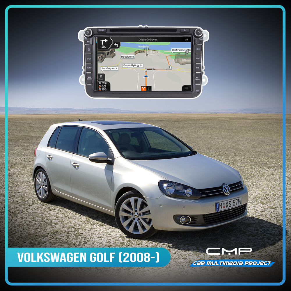 VOLKSWAGEN GOLF 6 (2008-) 8″ multimédia