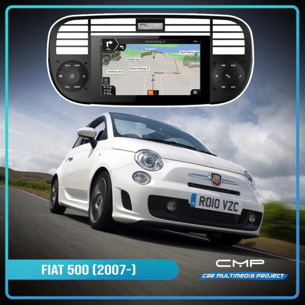 FIAT 500 (2007) 6,2″ multimédia