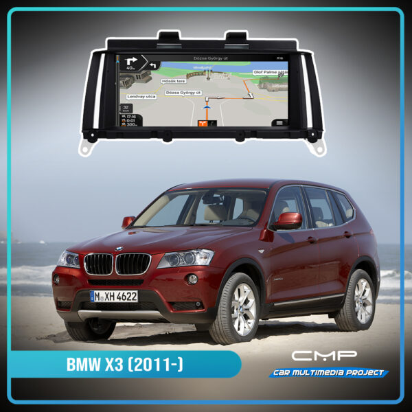 BMW X3 F25 (2011-) 8,8″ multimédia